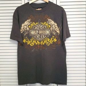 Authentic Harley Davidson Short Sleeve, Brown, Lrg
